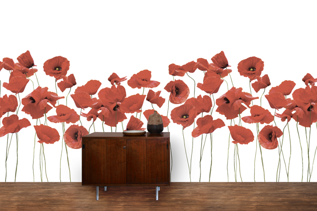 Poppies with Stems